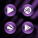 Metallic Violet Icons By Arjun Arora icon