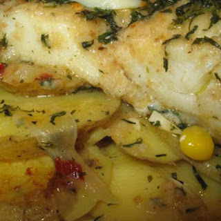 Cod and Potato Oreganata