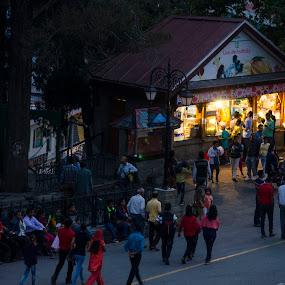 The Ridge-Shimla by Debasish Chatterjee - City,  Street & Park  Street Scenes