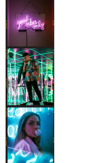 Neon Vibes Frame - Facebook Story Template