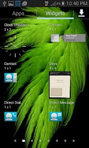 Green Feather Wind LWP screenshot 2