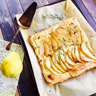 Pear Tart with Goat Cheese, Rosemary & Honey