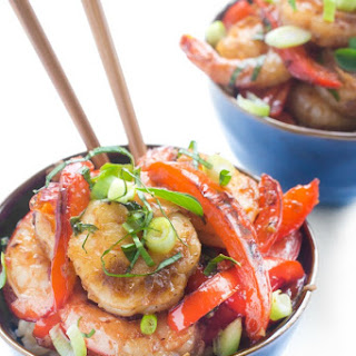 Thai Basil Shrimp.