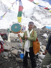 Photo: Pasang with the prayer drum