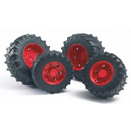 Bruder Tillbehör Tvillinghjul Röda, 3000-serien