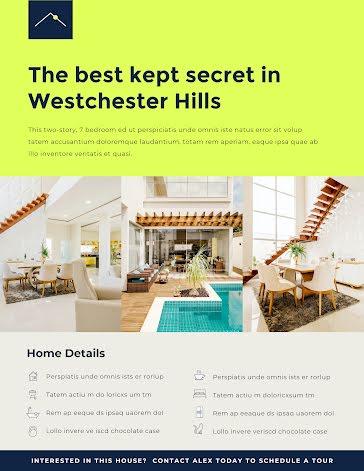 Westchester Hills - Poster template