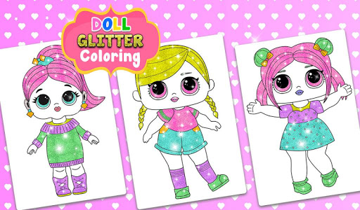 Glitter Dolls Coloring Book ?????? hack tool