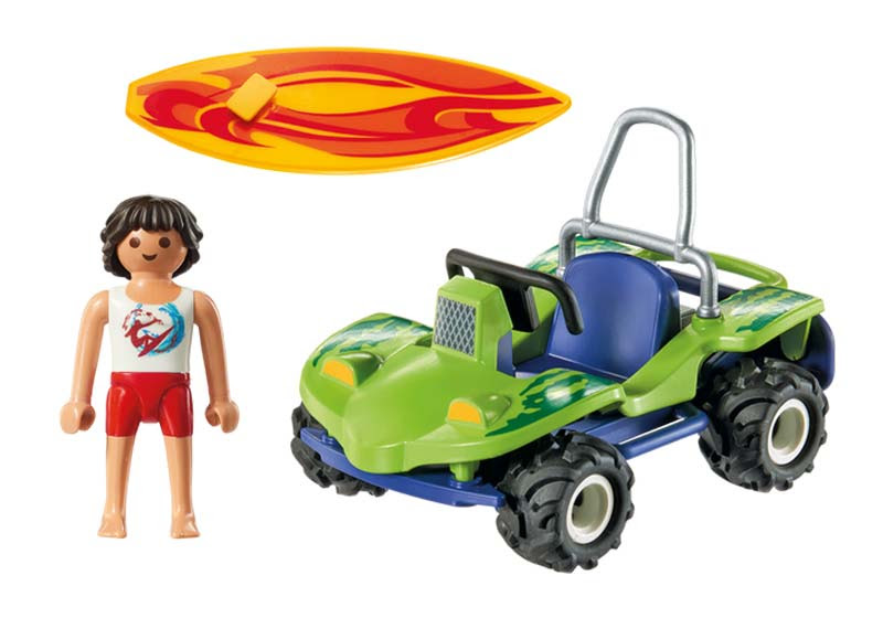 Contenido real de Playmobil® 6982 Surfista con Quad