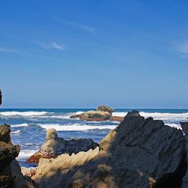 Batu Hiu Rock Beach by Mulawardi Sutanto - Nature Up Close Rock & Stone ( rock, mantap, batu hiu, beach, pangandaran, ciamis, travel )
