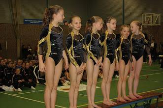 Photo: 1e bij het  Airtumbling springen met het Jeugd A-team: Nienke Visscher, Eline Groen, Sietske van Goor, Yara ter Huurne, Indy Witbreuk en Chantal Rombeek