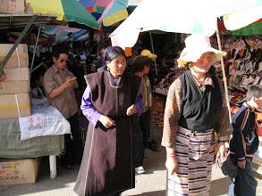 Photo: traditional Tibetan female dresses