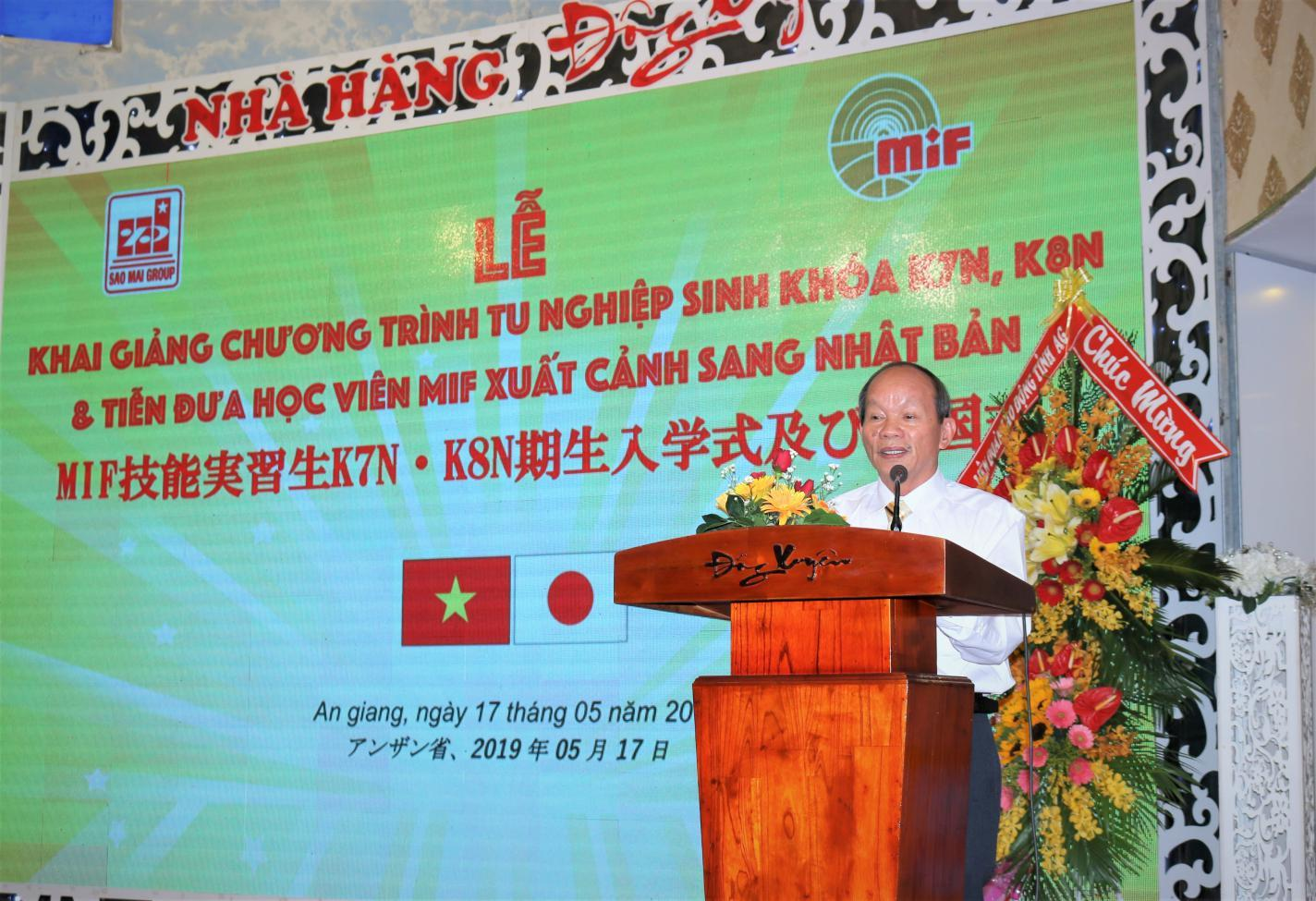 1. Ông Hồ Mạnh Dũng - Tổng giám đốc công ty MIF 'cam kết' sẽ tạo điều kiện tốt nhất cho người lao động khi làm việc nước ngoài.
