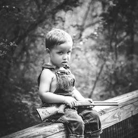 by Terri Cox - Black & White Portraits & People
