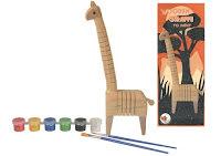 Giraff i trä, målarset DIY