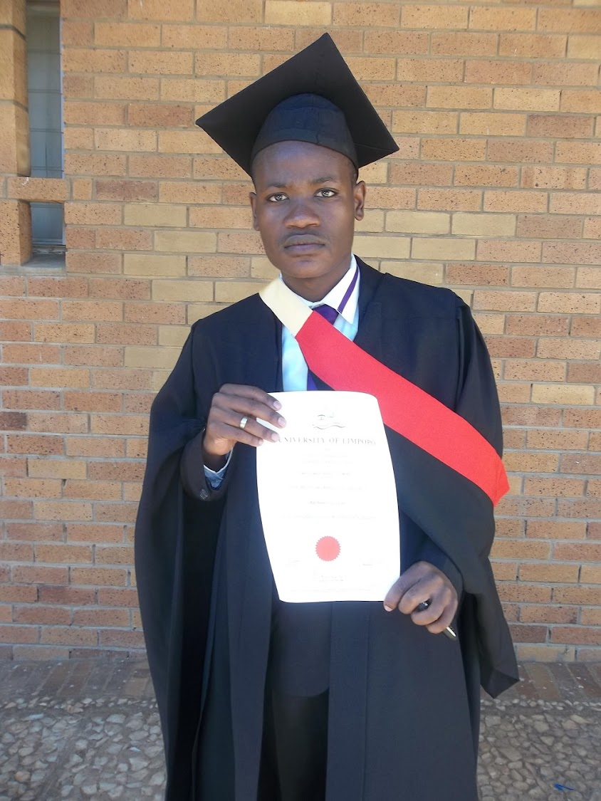 Clement Maosa, who plays a student in 'Skeem Saam', qualified as a lawyer.