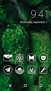 Monoic White Icon Pack - náhled