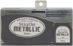 Stazon Metallic Ink Kit - Silver