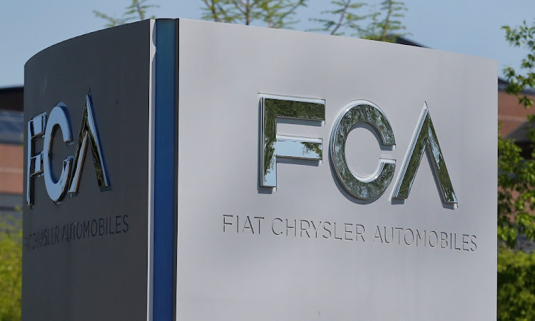 A Fiat Chrysler Automobiles sign at the headquarters in Auburn Hills, Michigan, the US. Picture: REUTERS/REBECCA COOK