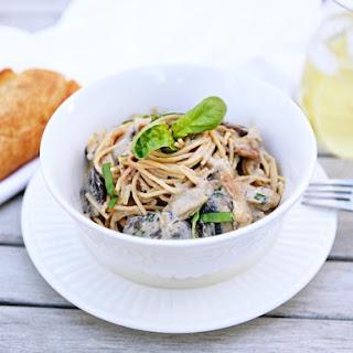 creamy vegan pasta with Barilla Whole Grain