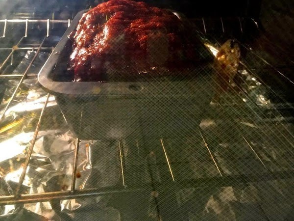 Turn oven heat up to 400° (200° C), and continue baking 20 minutes. Meatloaf...