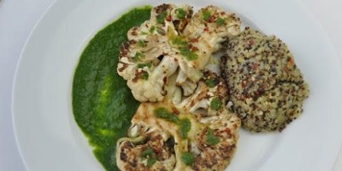 Grilled Cauliflower & Herb Sauce