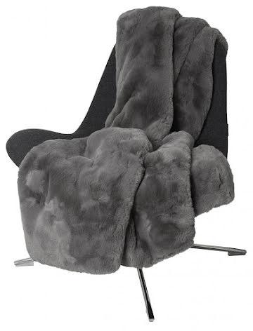Fluffy Blanket Faux fur 120x180 Grey