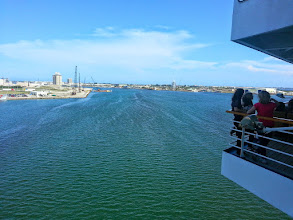 Photo: The outlet to the Atlantic in Port Canaveral.