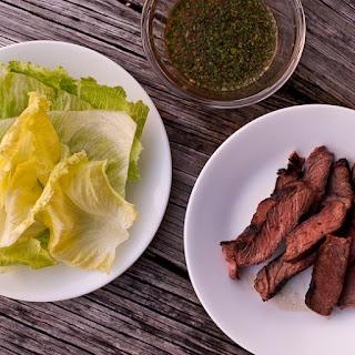 Spicy Asian Steak Lettuce Wraps