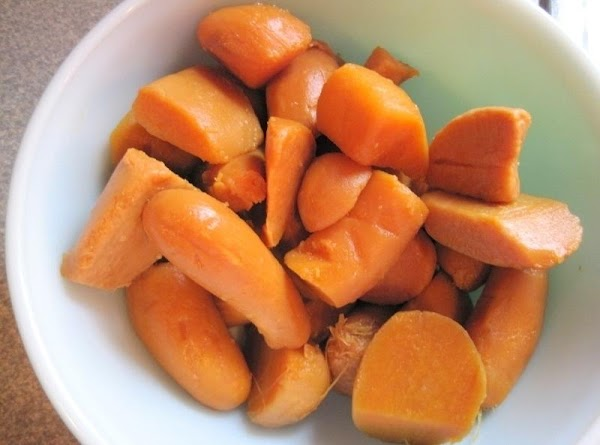 Mix the mashed Sweet Potatoes ,butter,salt vanilla extract,sugar,milk,and the beaten eggs together and pour...