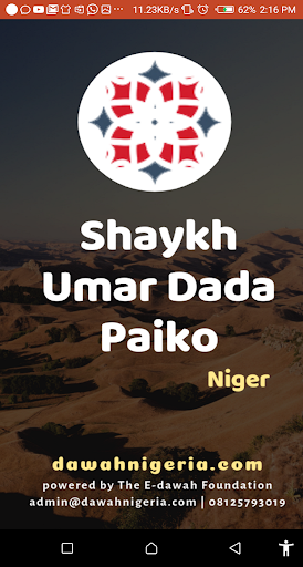 Shaykh Umar Dada Paiko Dawahbox screenshot 1