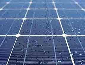 Hydrophobic phenomenon on solar panels