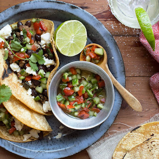 Turkey Tacos With Roasted-red-pepper Salsa And Queso Fresco