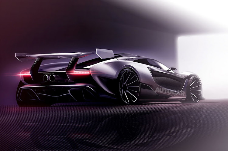 The Autocar rendering of what the McLaren P15 could look like. Picture: MCLAREN AUTOMOTIVE