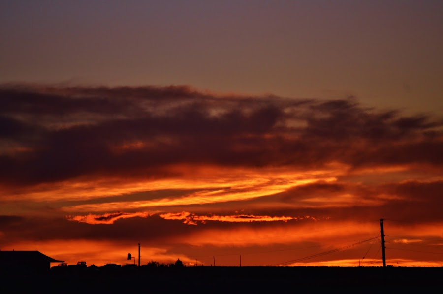 orange shadows  by Arthur Brokop II - Landscapes Cloud Formations ( clouds orange, sunset, cloudscape )