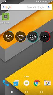 X-CPU - Circle Widgets - náhled