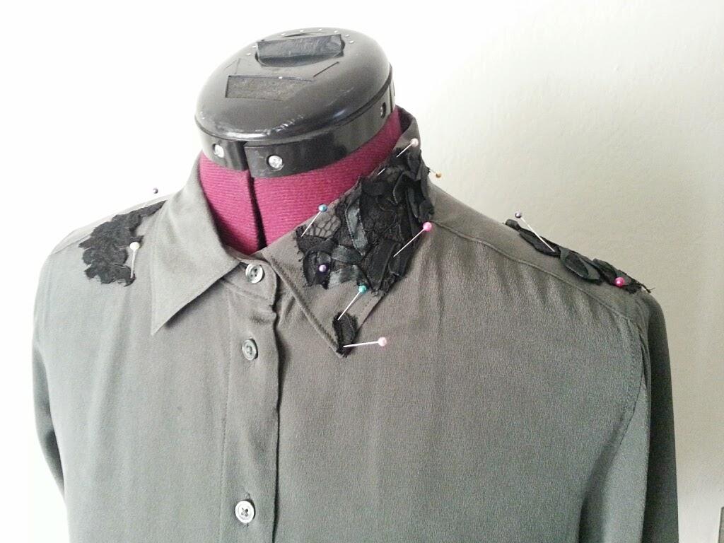 Make it pretty: diy lace appliques on a blouse fafafoom.com