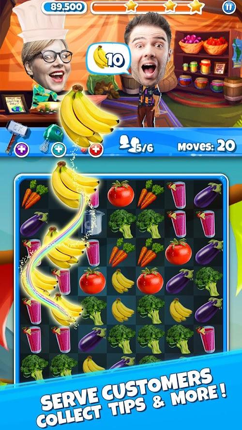 Screenshot 2 Crazy Kitchen: Match 3 Puzzles 6.0.0 APK MOD