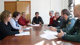 Reunión de la Junta Local de Protección Civil celebrada en el consistorio.