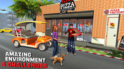 Smart Taxi Pizza Delivery Boy: New Driving Games  screenshots 1