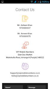 Vip Mobile Numbers screenshot 1
