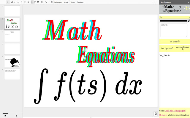 Math Equations Google Slides Add On