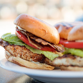 Grilled Blackened Fish Sandwiches.