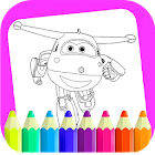 coloring book super swingss icon