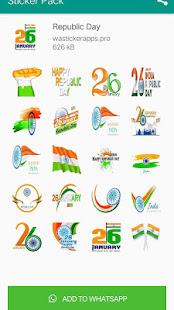 2019 Republic Day Stickers