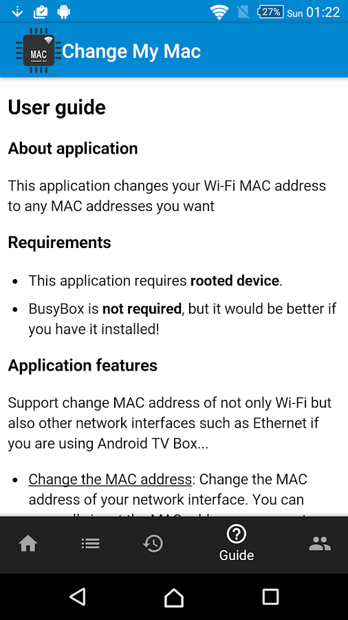 Change My MAC - Spoof Wifi MAC- screenshot