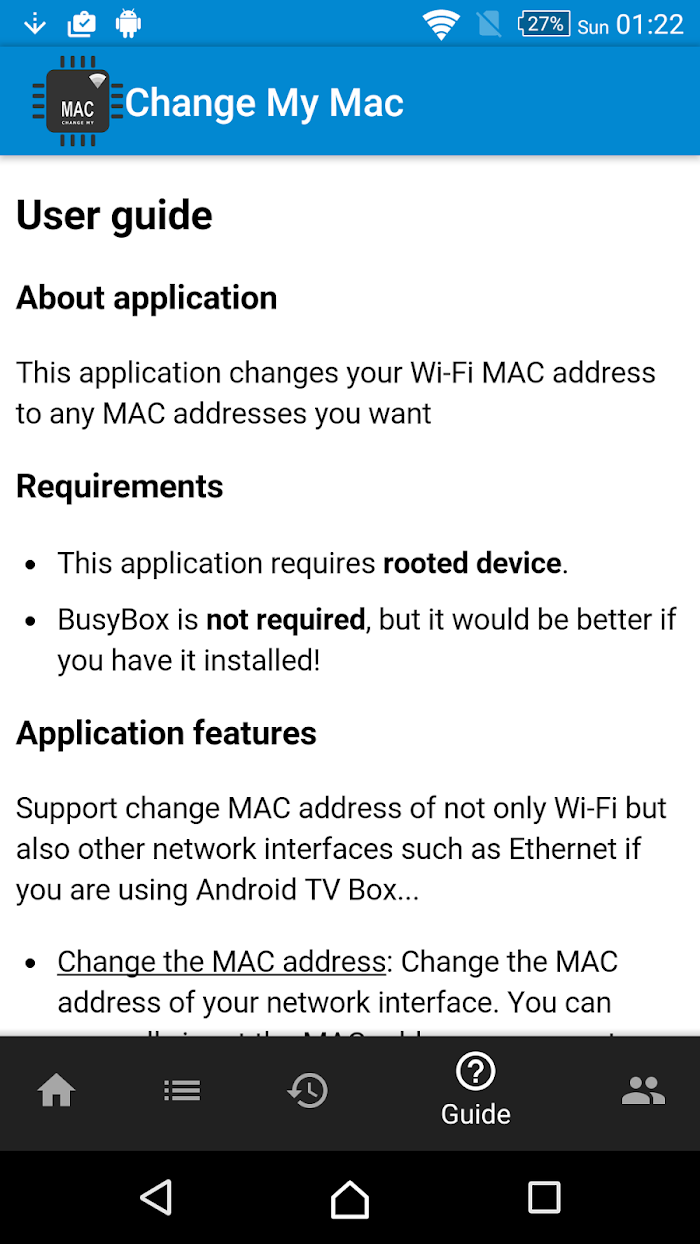 Change My MAC - Spoof Wifi MAC v1 7 5 For Android APK