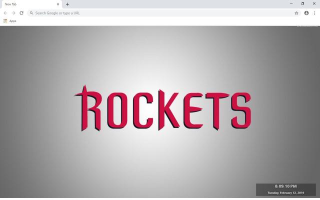 Houston Rockets New Tab Theme
