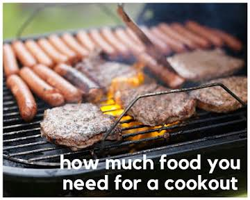 How Much Food You Need for a Cookout