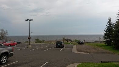 Photo: What a view for a gas station parking lot.