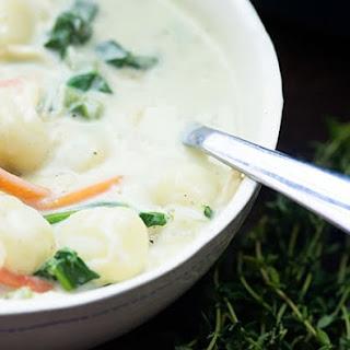 Chicken Gnocchi Soup.